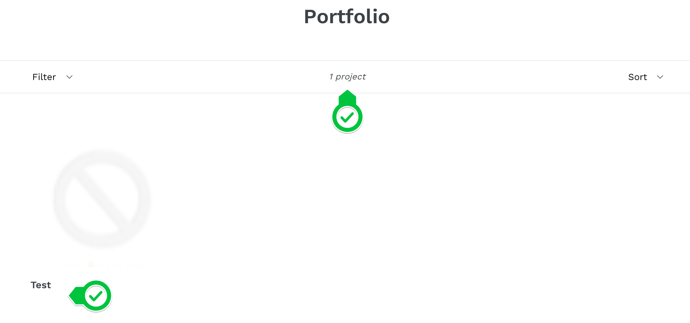 Portfolio page result screenshot