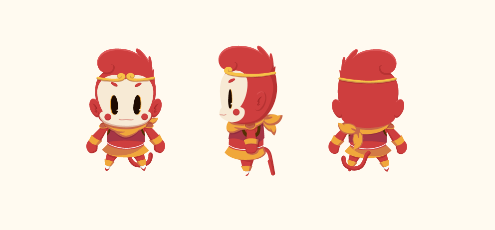 Monkey king character for Wooko